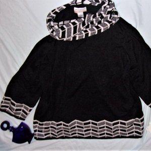 $70 NEw 3x black white  womens sweater shirt soft